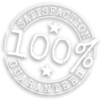 100% Satisfaction Guaranteed stamp